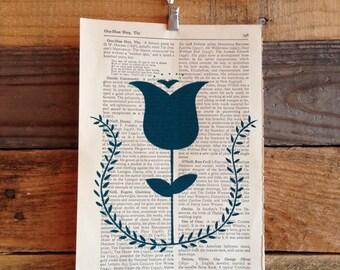 Dutch Tulip Book Page Print