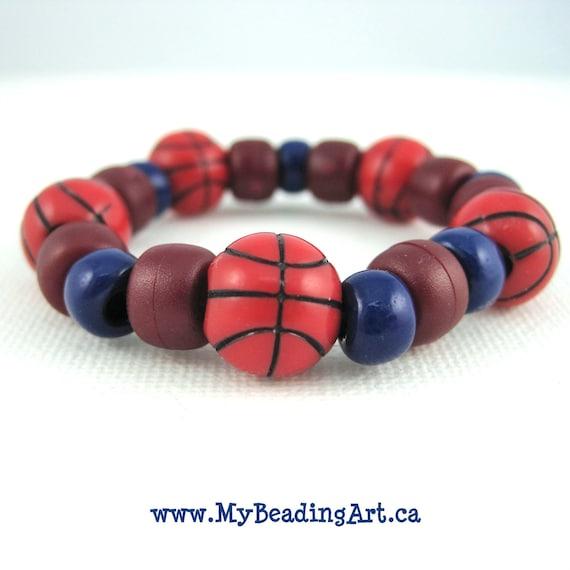 Boy Bracelets, Boys Jewelry, Kids Jewelry, Childrens Jewelry, Boy, Kids, Bracelets, Gifts for Boys, Basketball, Sports, Etsy Kids, Jewellery