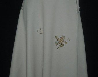 Swing Wrap SKIRT - Golden Beige (XS To S) - Clearance SALE (was 14.00)  Great School Uniform!