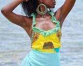 Ocean Breeze Harvest Dress - Made 2 Measurements