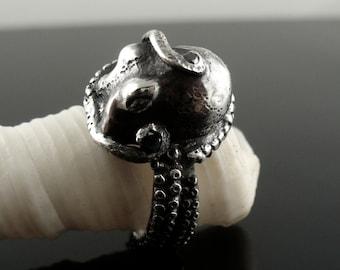 Black Diamond Kraken Ring, Octopus Ring, Tentacle Ring, OctopusME Jewelry, Kraken, Tentacle, Tentacles, Octopus