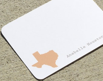 State Personalized Stationery Notecards or Notepads - Any State, Province, Country