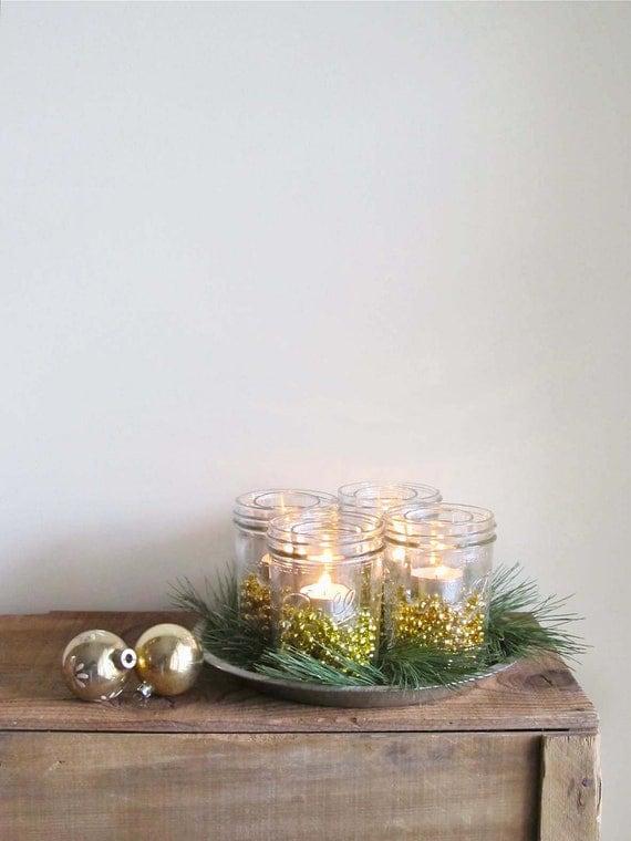 Items similar to christmas mason jar luminaries