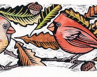 Cardinals and Chestnut Oak