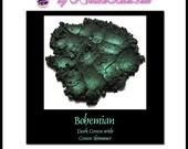 Bohemian - Mineral Eye Shadow 10g jar - Dark Green with Green Shimmer