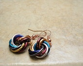 Maille Earrings Multicolor Love Knot Earrings Endless Knot Mobius Chain Maille - E2011-04