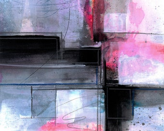 Abstraction Series . 315 ... Original abstract water media art ooak painting by Kathy Morton Stanion EBSQ