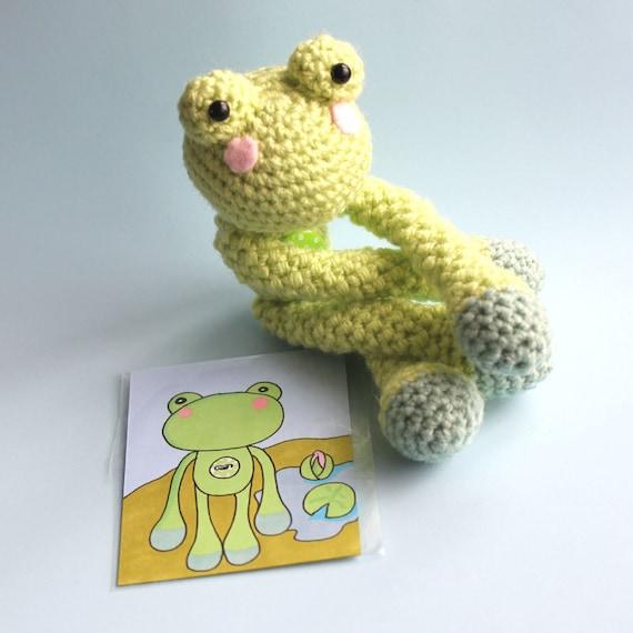 Frankie the Amigurumi Frog