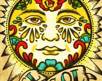 Folk Art Sun Etsy