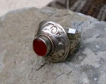 Vintage Tribal Ring- Afghanistan Carnelian, Number 2, Size 9