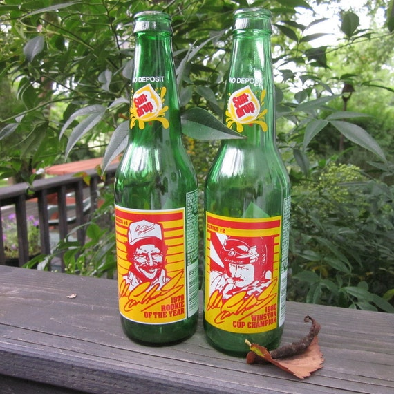 Nascar Collectibles - Two Vintage Sun Drop Bottles