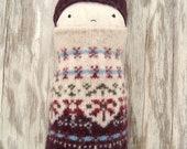Felted Sweater Doll Pattern Wool Felt Doll pdf