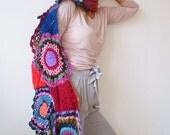 Multicolor Crocheted Circle Scarf No 3