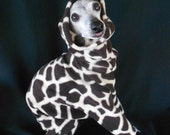 Italian Greyhound Giraffe Skin Custom Fleece Romper-custom made for all small dogs