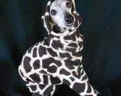 Italian Greyhound Giraffe Skin Custom Fleece Romper-custom made for all small dogs