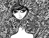 MAYA Art Print 11x14