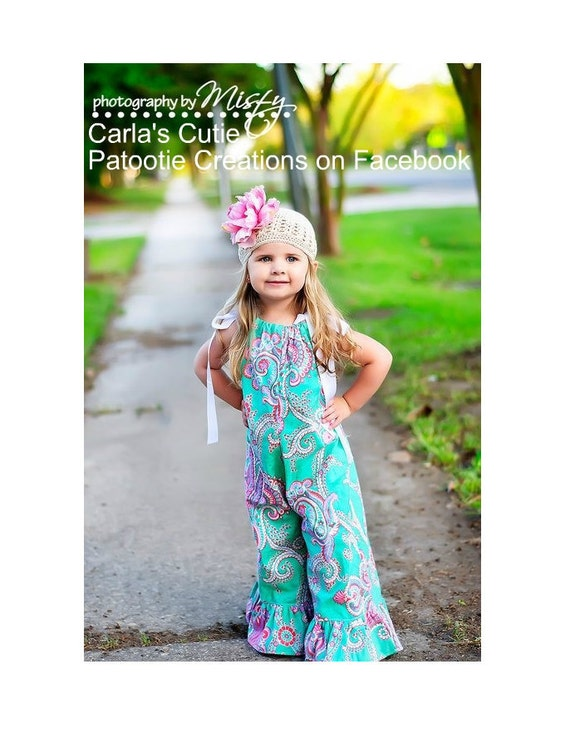 Pattern Of The Day reg.9.00 Whimsy Couture Sewing Pattern Tutorial PDF ebook -- Pillowcase Romper -- sizes preemie through 10 girls Instant