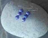 Freshwater Pearl Earrings, Lavender, Easter, Spring, purple dangle earrings