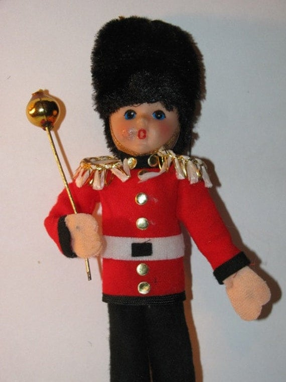 Vintage drum major christmas ornament marching band