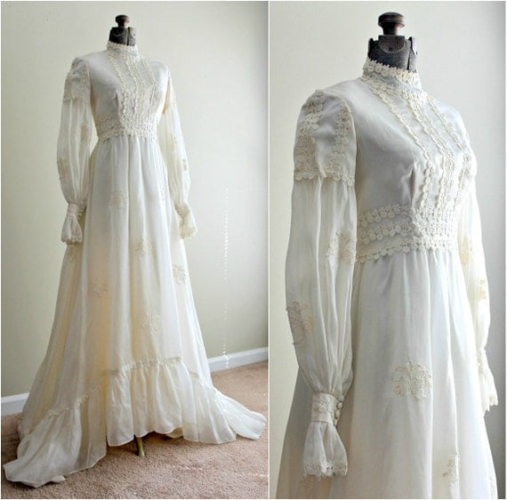 Vintage Wedding Dresses 1960s: Vintage 1960s Dress / 60s Wedding Dress / Winter By Modhuman