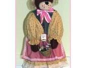 Flowers For Honey Bear Handmade Country Doll Decoration