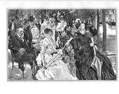 1908 - antique print - In Hyde Park by A.B. Wenzell antique print