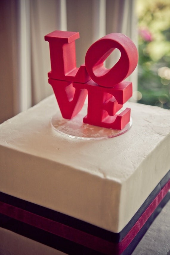 Love Sign Cake Topper Etsy