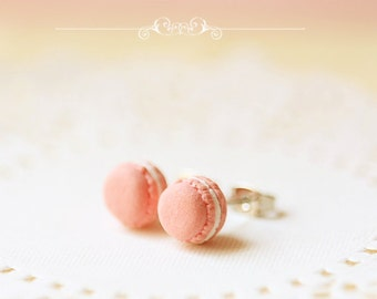 Food Jewelry - Sweet Pink Macarons Earrings