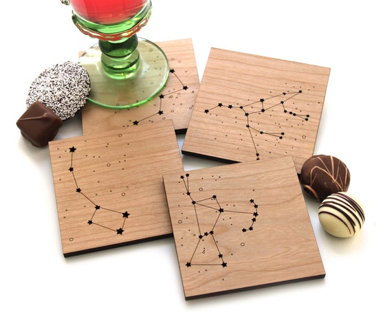 Wood Coasters - Star Constellations