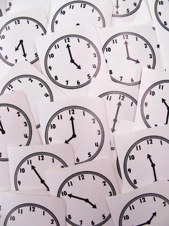 Items Similar To Vintage Time Clock Flashcards Flash