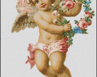 VINTAGE BABY ANGEL cross stitch pattern No.256