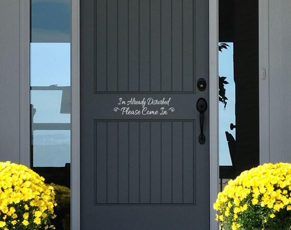 Front door decor i 39 m already disturbed please by for M m door decorations