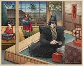 Sanctuary-- 11 x 14 Art Print- Japanese Super Heroes