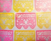Wedding decorations - Papel Picado AMOR Banners - custom color