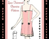 Vintage Sewing Pattern 1920's Flapper Chemise Teddy 3026 -INSTANT DOWNLOAD-