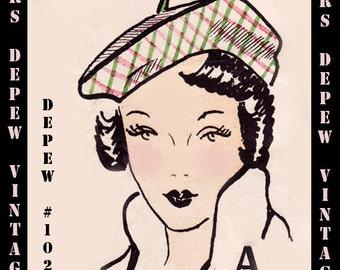 Vintage Sewing Pattern Reproduction 1950's 4 Delightful Hats Bonnet, Beret, Cap & Cloche #1022 -INSTANT DOWNLOAD-