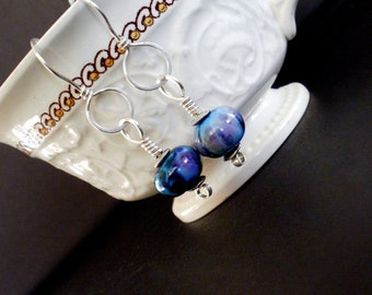 Wrapped Up - Sterling Silver and Lampwork Earrings