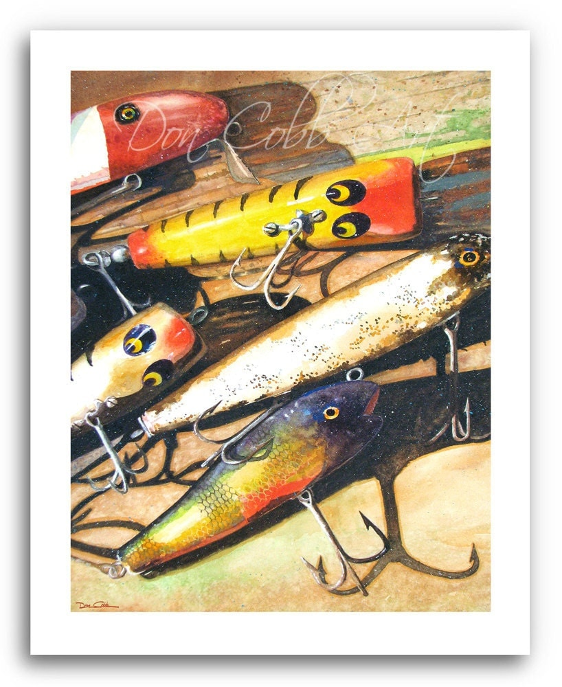 Fishing Lure Art Vintage Lures Prints Signed And