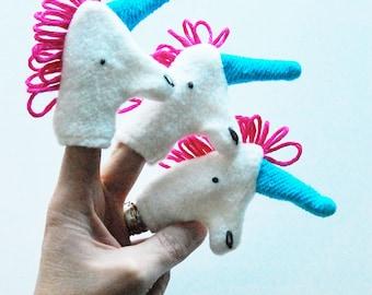 Eco Friendly Organic Finger Puppet Unicorn Fantasy Horse Toy