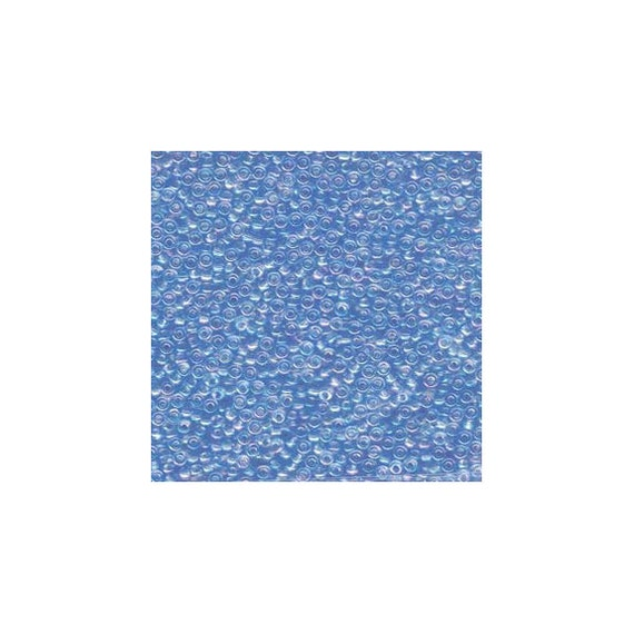 Miyuki Seed Beads 11/0 Transparent Lt Sapphire Blue AB 11-299 24g Tube Glass Size 11