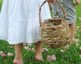 Rustic Easter basket, Wedding,Flower Girl Basket, Bucket, Eco Friendly, Rustic Outdoor Wedding, Wisteria