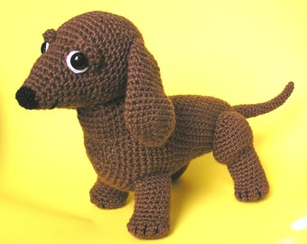 Pdf Crochet Pattern OSCAR the WEINER DOG