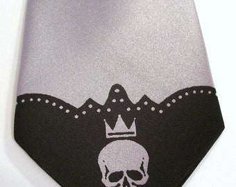 Skull necktie print to order available in over 50 color