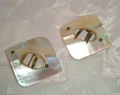 Antique Mother of Pearl Sash Buckle Brooches. Victorian to early 1900s Vintage Jewelry