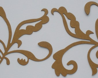 LARGE FLOURISH SCROLL  - Fancy Bare CHiPBOARD Die Cuts