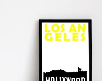 Los Angeles Print // California Print Travel Art