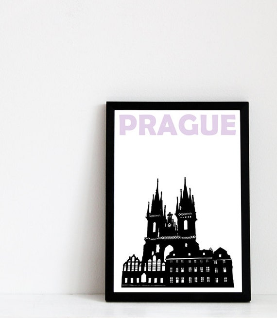 Prague Print (8x10) Prague Art Print Czech Republic Travel