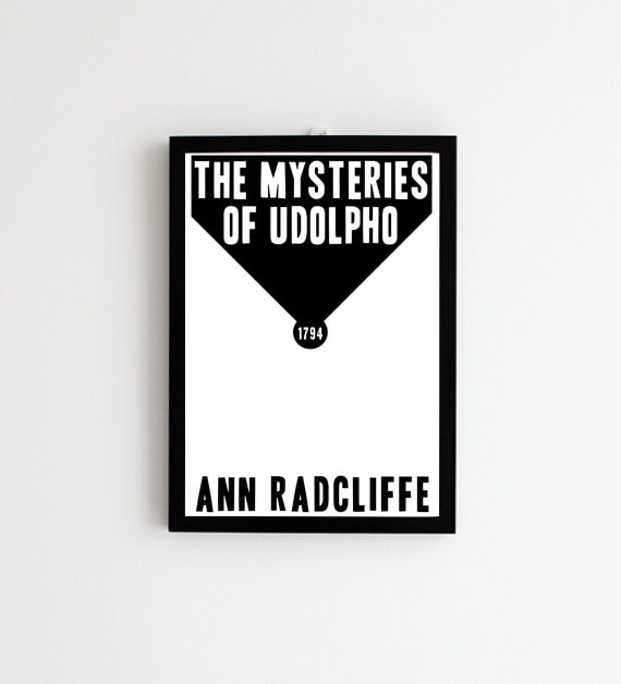 The Mysteries of Udolpho - Book Cover Art // Ann Radcliffe