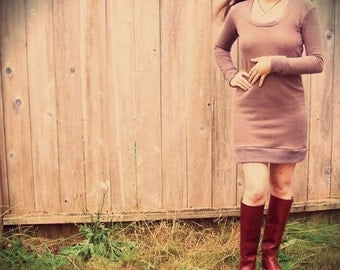 Interval sweater dress/tunic (hemp fleece)