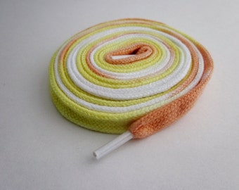 Hand Dyed Shoe Laces (45 inch length) Candy Corn